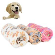 FULL SIZE Pet Dog Blanket Cat Fleece Winter Warm Paw Print Bed Mat Cover