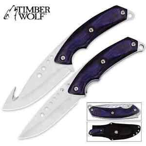 Timber Wolf Custom Skinning Combo Blue KNIFE