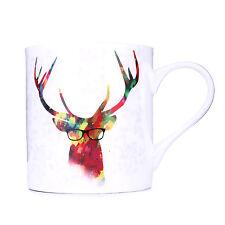 Taylorhe Porcelana Fina Taza colorido Stag en Gafas hecho en el Reino Unido