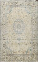 Vintage Ardakan Evenly Low Pile Muted Area Rug Distressed Hand-knotted 10'x13'