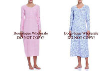 EILEEN WEST PINK/WHITE OR BLUE/WHITE SUEDED MICROFLEECE BALLET GOWN $55 M L XL
