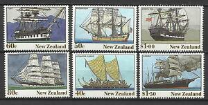 NEW ZEALAND 1990 SAILING SHIPS incl CAPTAIN COOK's ENDEAVOUR 6v MNH