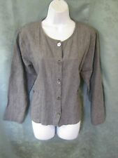 Hot Cotton Marc Ware Top Size Small Button Front Overblouse Striped Linen/Cotton
