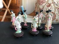 CHINESE WOMEN FIGURINES  SET OF 7