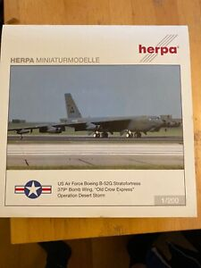 """Herpa Wings Boeing B-52G 1:200 379th Bomb Wing """"Old Crow"""" Operation Desert Storm"""