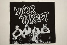 """Minor Threat Cloth Patch Sew On Badge Adicts Punk Rock  Approx4""""X4"""" (CP56)"""