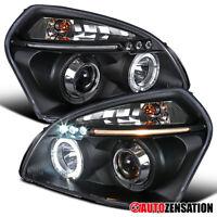 For 2005-2009 Hyundai Tucson LED DRL Black Halo Projector Headlights 06 07 08