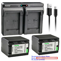 Kastar Battery Dual USB Charger for Panasonic VW-VBK360 & HDC-TM90 HDC-TM90GK