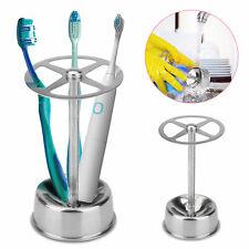 Stainless Steel Toothbrush Holder Toothpaste Stand Bathroom Organizer Freestand