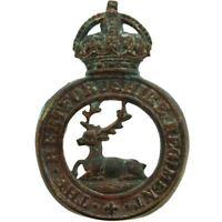 Original WW1 Hertfordshire Regiment (Hertford) Cap Badge LUGS VERSION - CX96