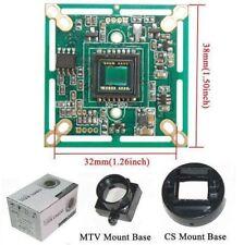 """Sunvision 650TVL 1/3"""" Sony CCTV Board Camera + CS & M12 Base Mounts (BS65A)"""