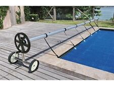 Stainless Steel 21 ft InGround Swimming Pool Cover Reel Tube Set Solar Cover