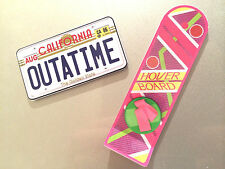 Back to the Future Hoverboard Outatime License Plate Plastic Fridge Magnets Cool