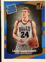Lauri Markkanen Base RC 2017-18 Donruss Rated Rookie # 159 Chicago Bulls SHARP!
