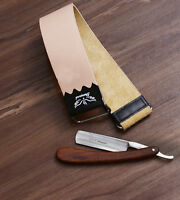 LEATHER STROP BELT FOR SHARPENING SMOOTHING STRAIGHT CUT THROAT RAZOR BARBER