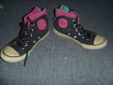 COLLECTOR LIMITED EDITION CONVERSE HIGH TOPS ALL STARS PINK BLACK SIZE 1 GIRLS