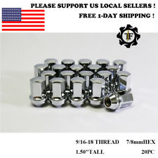20PC 9/16-18 FIT DODGE/RAM OEM FACTORY CHROME 7/8HEX WHEEL LUG NUT CONICAL SEAT