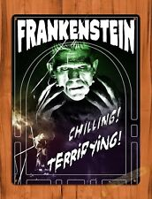 TIN SIGN Vintage Retro Frankenstein Movie Ride Art Poster Attraction