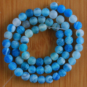 """VD1165-n 6mm Fire Agate Ball Loose Beads 14.5"""""""