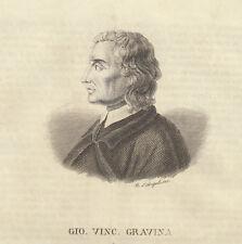 1842 Giovanni Vincenzo Gravina incisione in rame