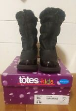 TOTES Kids Girls' Mia Black Purple Waterproof and Insulated Boots Size 8 M
