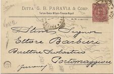 P3693   Milano,  Ditta G.B. Paravia & C. 1895