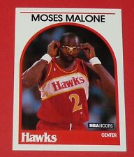 # 290 MOSES MALONE ATLANTA HAWKS 1989 NBA HOOPS BASKETBALL CARD