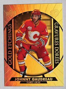 2020-21 Tim Hortons; Gold Etchings G-4 Johnny Gaudreau Flames 'Error Card?'