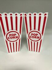 Four (x4) New Popcorn Buckets Tubs Bowls - Washable & ReUsable