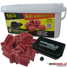 36 x Raco Poison Blocks Mice Mouse Rat Rodent Killer Bait Professional Strength