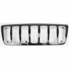 Grille Shell For 2001-2003 Jeep Grand Cherokee Black Plastic