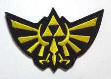"""Legend of Zelda Hyrule's Royal Crest Gold Logo 3.5"""" Embroidered Patch (ZEPA-007)"""