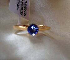 1/2 Ct, Natural, Tanzanite Ring,Solitaire, 14K Gold Over Sterling Silver, Size R