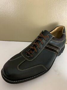 Johnston & Murphy Size 13 M Shoes Black Sheepskin Leather Oxfords 20-7475