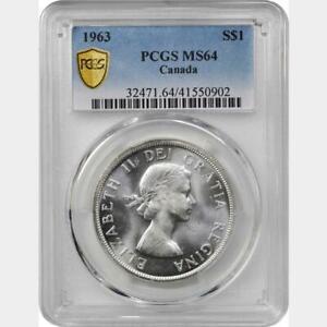1963 Canada Dollar. PCGS MS 64.