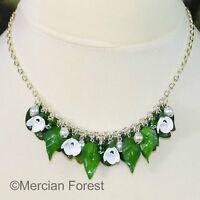 Spring Flowers Snowdrop Necklace - Handmade Jewellery Polymer Clay Imbolc