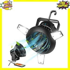 Solar Camping Fans For Tents And Light Combo Ceiling Fan Lantern Home Office Car