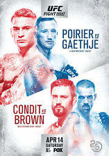 D'Impression A5 – UFC on Fox 29 Poirier vs gaethje (Affiche Arts Martiaux Mixtes)