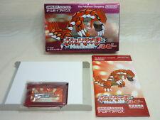 POKEMON RUBY Pocket Monsters Game Boy Advance Nintendo Import Japan Game gba