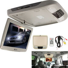 10 Inch Flip Down TFT LCD Monitor MP5 Player Car Roof Mount Monitors Player Gray