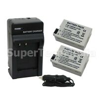2 Battery + Charger & Car Adapter Combo Kit For Canon LP-E8 LPE8 EOS Rebel T3i