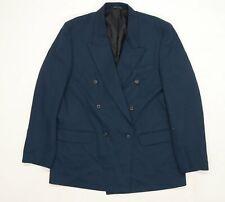Burton Mens Blue  Rayon Jacket Suit Jacket Size 44
