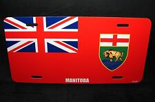 MANITOBA FLAG CAR LICENSE PLATE