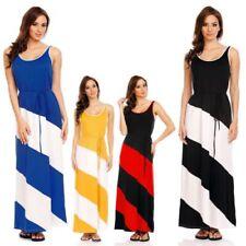 Polyester Boho Striped Dresses for Women