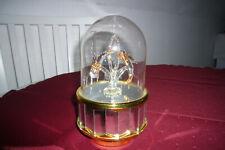 Spieluhr Karussell,Delfiene Spiegel Glas, Figuren, intaktes Spielwerk, Melodie