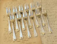 CHRISTOFLE BOREAL 12 Pastry Forks Set 12 fourchette à gâteaux Brilliant Luster