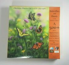 New Butterflies & Thistle Jigsaw Puzzle Art By Rosemary Millette Oversize Pieces