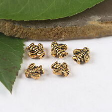60Pcs dark gold-tone vase spacer beads h1771