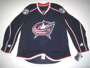 RBK COLUMBUS BLUE JACKETS AUTHENTIC NAVY HOME JERSEY 54