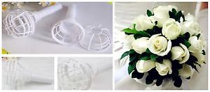 Plastic Bouquet Holder Handle Bridal Floral Wedding Flower DIY Decoration UK